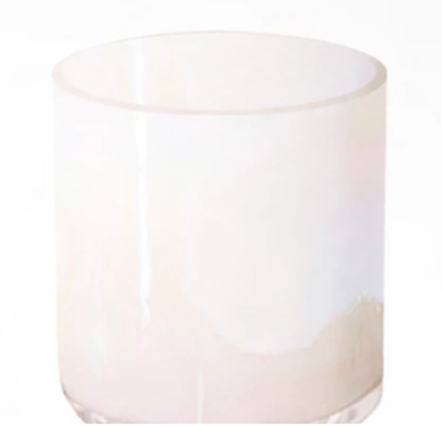 Lustrous Iridescent Cloud Candle Vessel