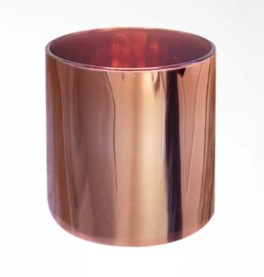 Lustrous Copper Candle Vessel