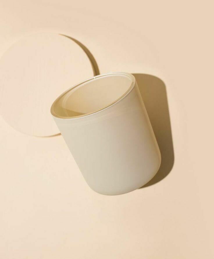 Matte Cream White Candle Vessel