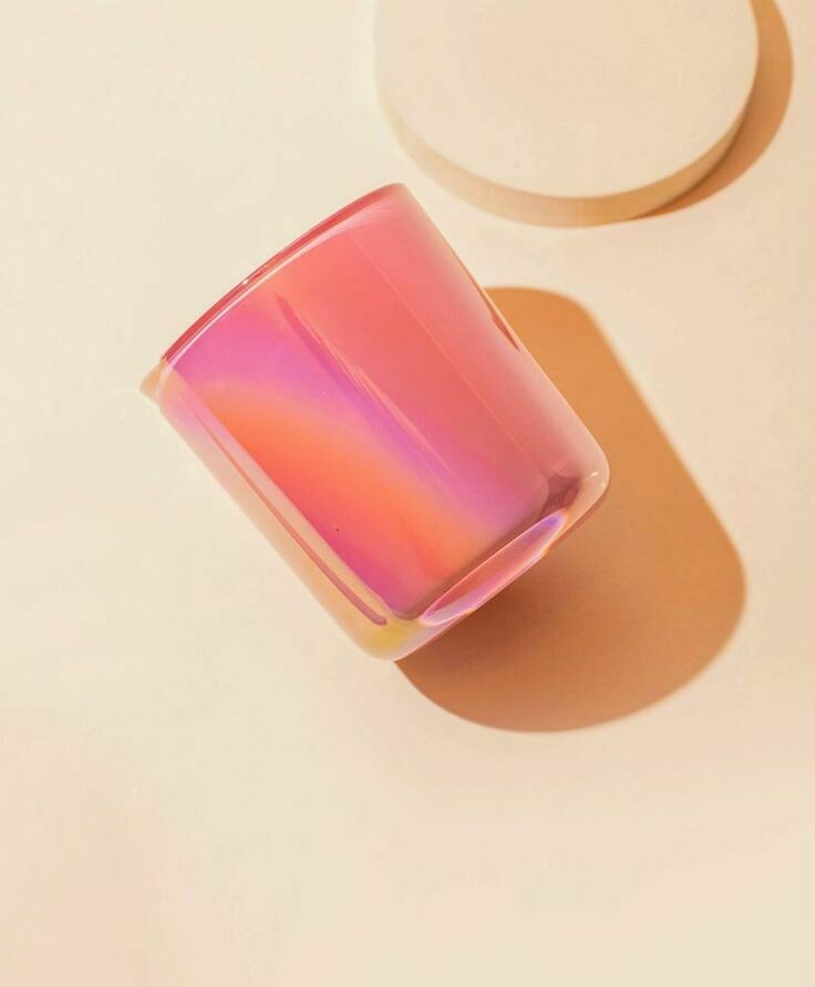 Lustrous Flamingo Pink Candle Vessel