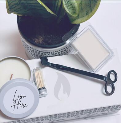 Elegant 8oz Tin Candle With Custom Label