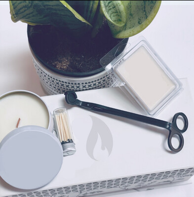 Elegant 8oz Tin Candle Blank