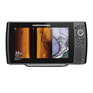 HELIX 10 CHIRP MEGA SI Fishfinder/GPS Combo G3N with Transom Mount Transducer