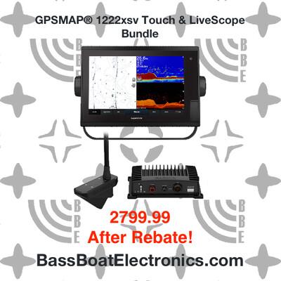 Garmin GPSMAP® 1222xsv Touch & LiveScope System Bundle