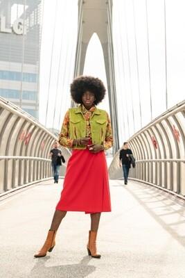 Vintage 70's Wrap Midi Pencil Skirt