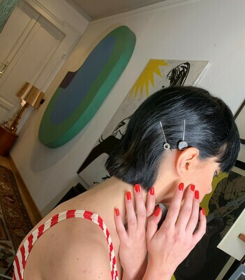 Vintage 1980s Hair Clips Hair Barrette