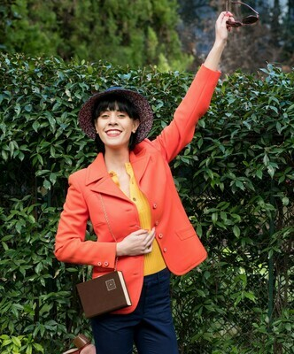 Vintage 1960s Jacket in Tangerine Deadstock