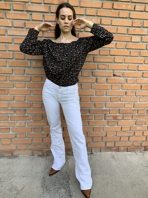 Vintage Levi's Flared Jeans in White