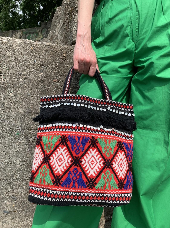 Vintage Boho Hippie Fringed Bag