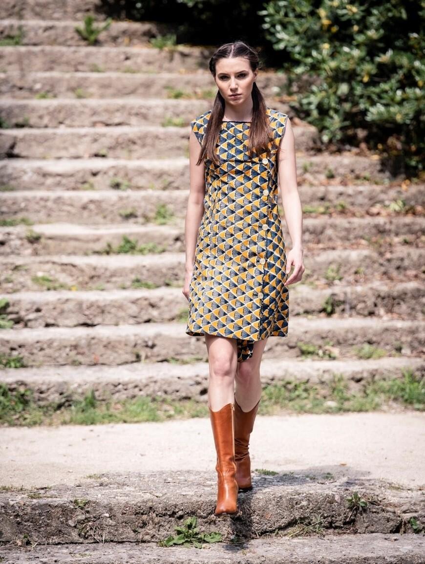 Vintage 1970's African Print Dress