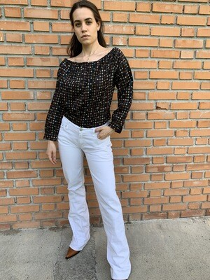 Vintage Levi's flared jeans in white size Small