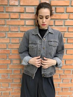 Vintage 1990's Black Denim Light Jacket