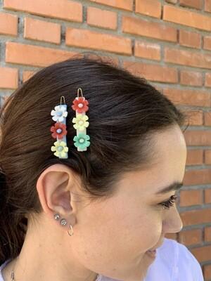 Vintage Floral Hair Pins Clip Set Hair Barrettes