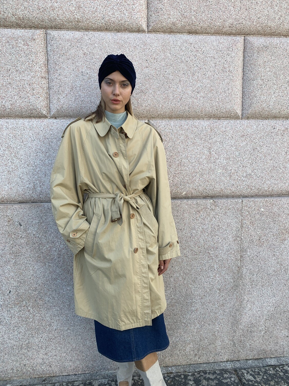 Vintage 1990's Trench Coat Oversized Lined