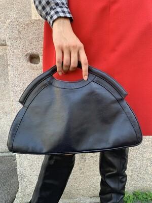 Vintage 1970 Half Moon Bag in Black