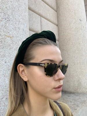 Vintage Persol Sunglasses in Tortoise Green Frames