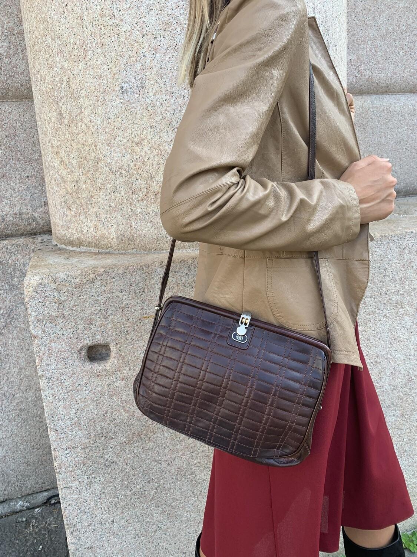 Vintage 1970 Shoulder Bag Snakeskin Effect