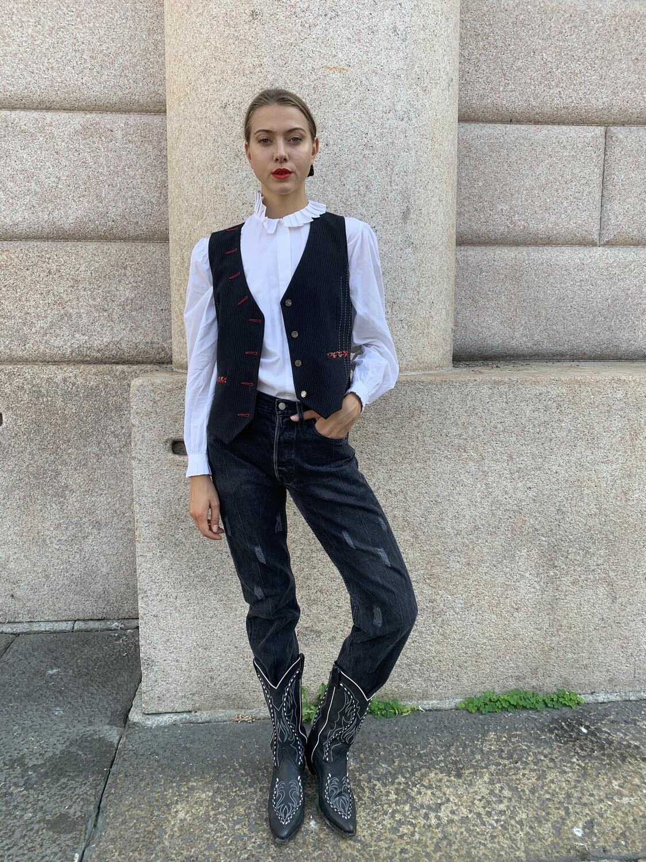 Vintage Levi's 501 jeans customed in black size 29