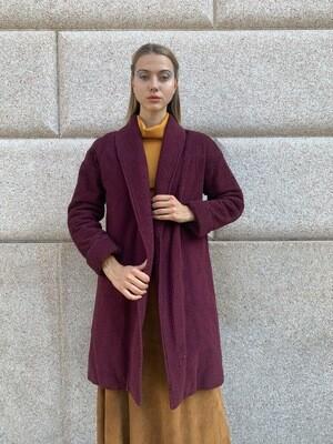 Vintage 1960 Oversize Kimono Coat Pure Silky Padded