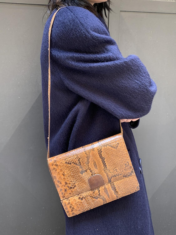 Vintage Shoulder Bag Clutch Snakeskin