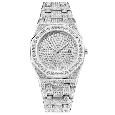 2020 New Quartz Watches Fully Iced Out Wristwatch