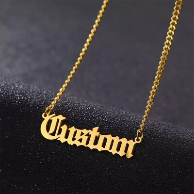 Custom Name Necklace 3mm Cuban Chain