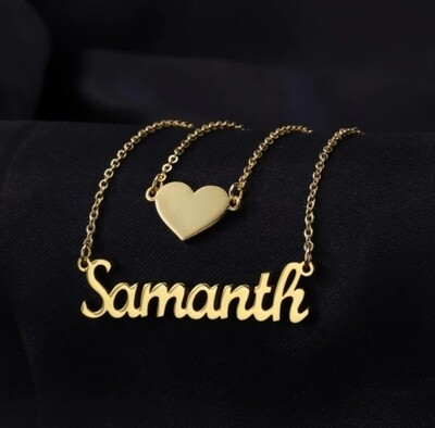 Heart Layer Custom Name Necklace | Stainless Steel Jewelry