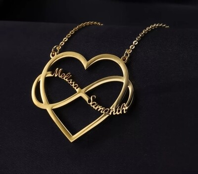 Heart Infinite Customized Name Necklaces   High Quality Stainless steel