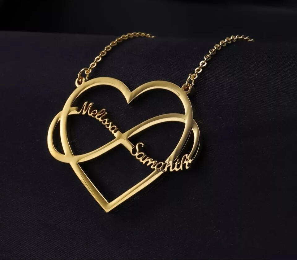 Heart Infinite Customized Name Necklaces | High Quality Stainless steel