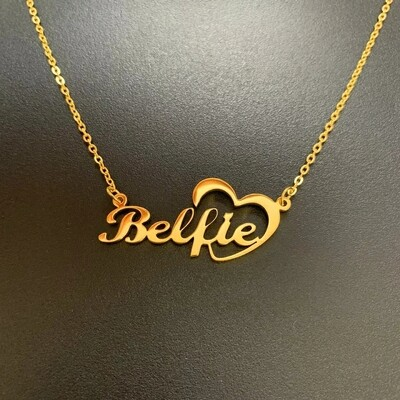 Customized Heart Name Choker Necklaces