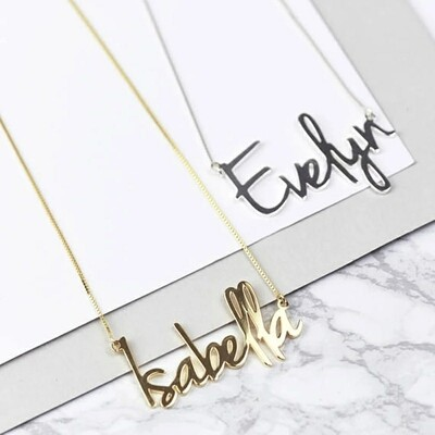Personalized Carrie Style MyName Necklace Pendant