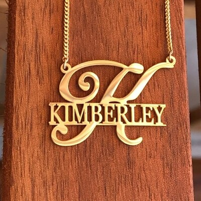 Unique Customized Name Plated Necklace With Initial