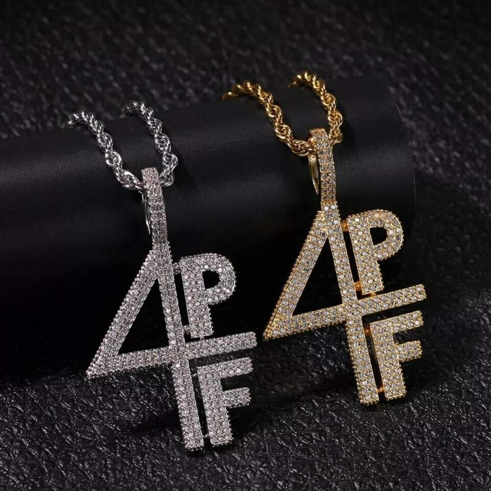 4PF Four Pockets Full Iced Out Necklace