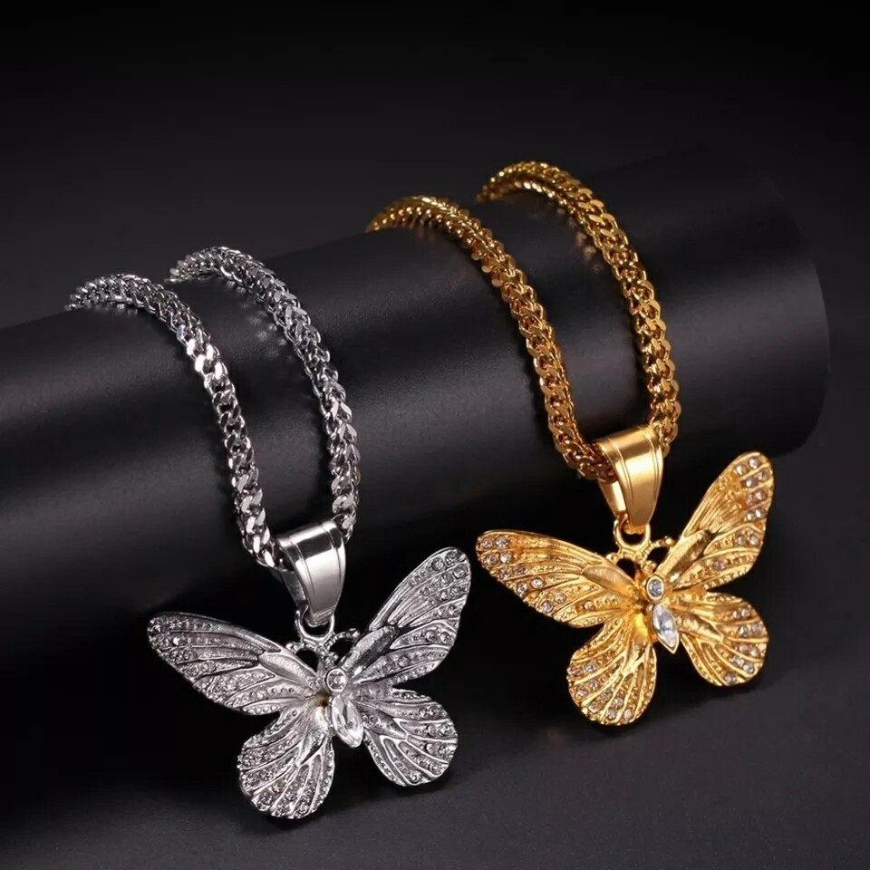 Top Quality Stainless Steel Butterfly Necklace