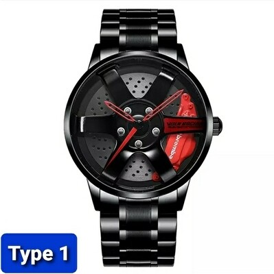 NIBOSI Wheel Rim Hub Custom Design Sport Car Rim Watch