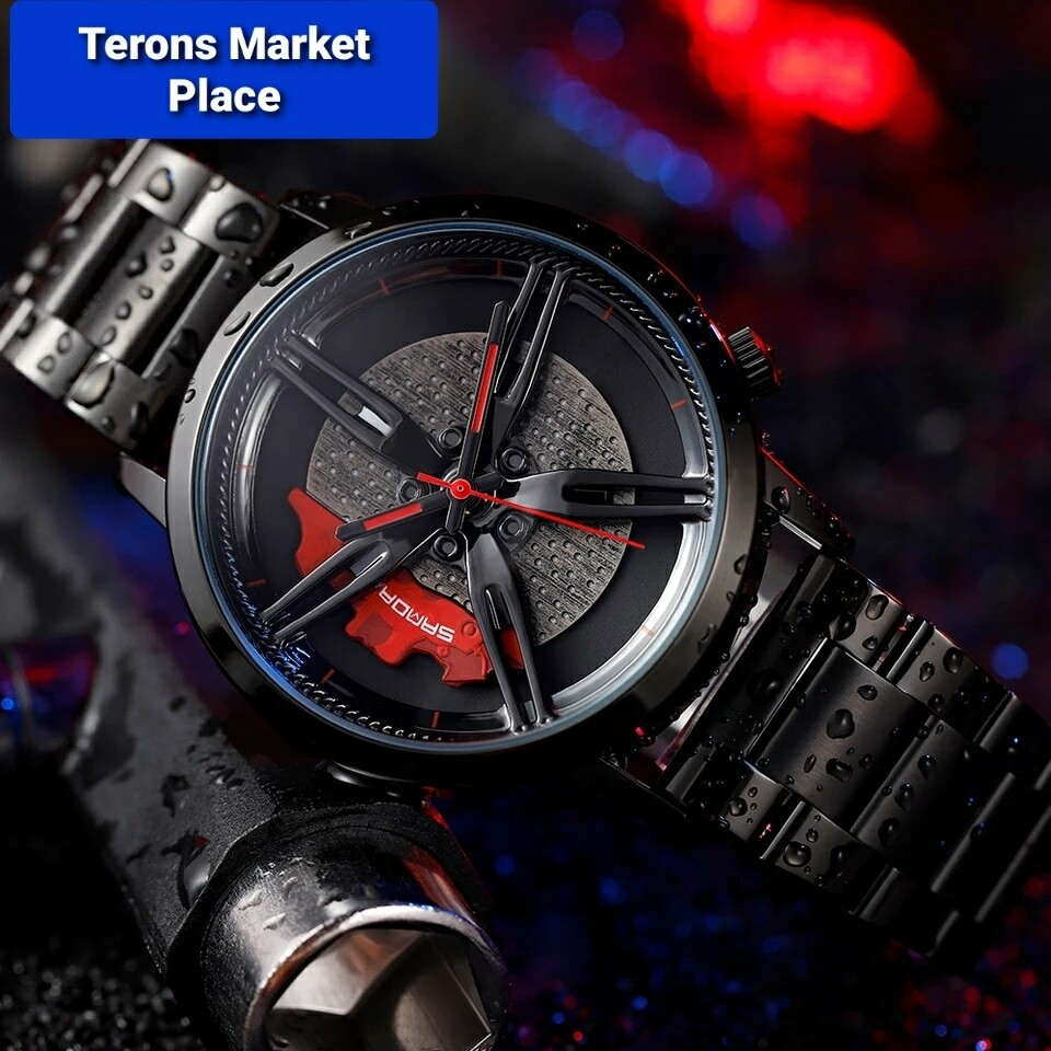 Men Fashion Car Rim Watch Custom Design