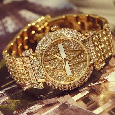 Luxury Diamond Stainless Steel Women Fashion Watches