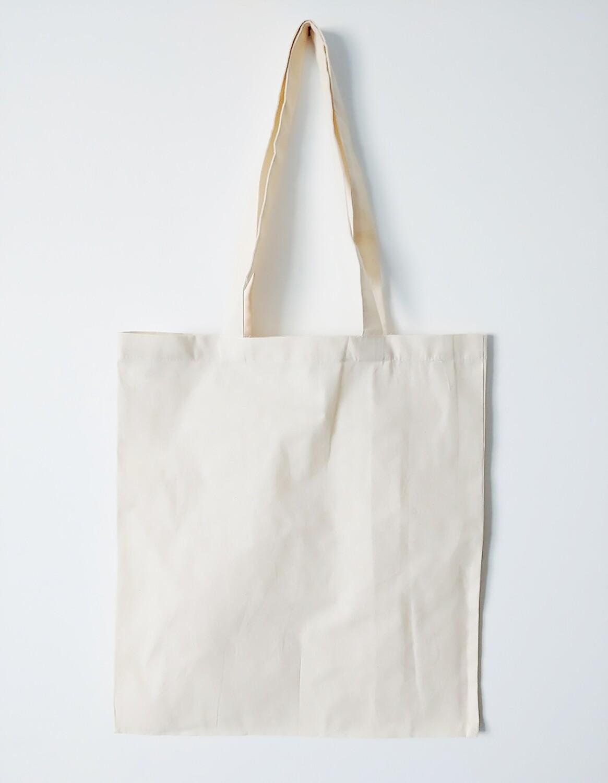 Printed natural tote bags
