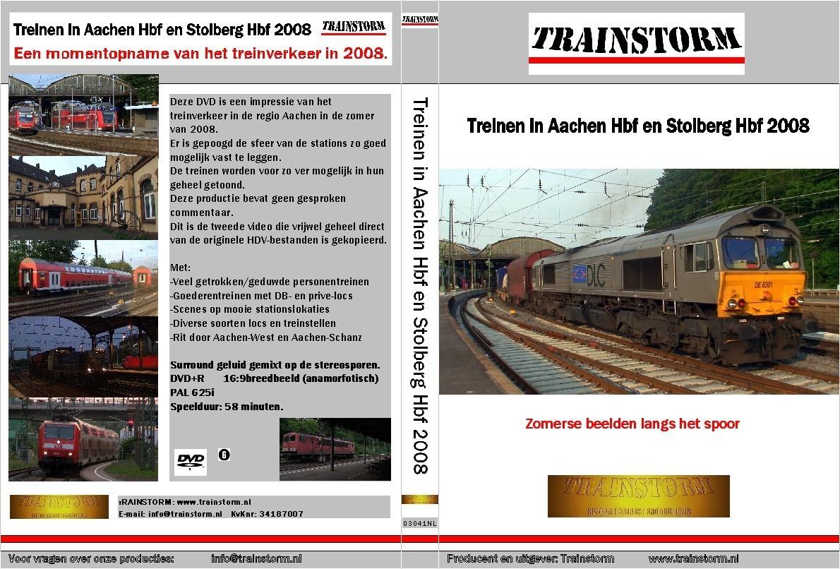 Treinen in Aachen Hbf - Stolberg Hbf  2008