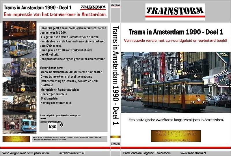 Trams in Amsterdam 1990 deel 1