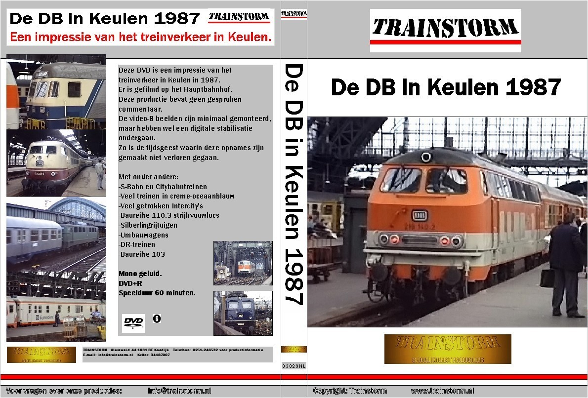 De DB in Keulen 1987
