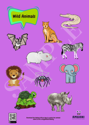 Printable Wild Animals Poster (Print it yourself)