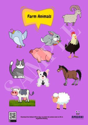 Printable Farm Animals Poster (Print it yourself)