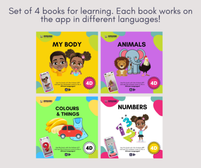 4 Book Set - Animals, Body, Numbers, Colours