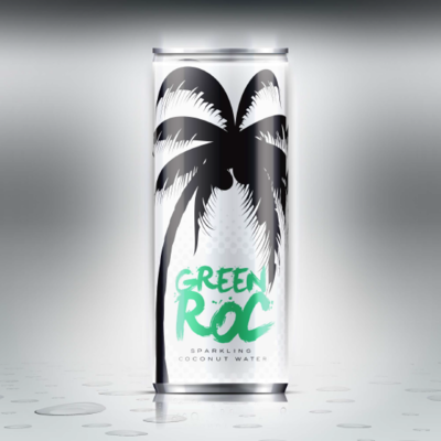 Green Roc Sparking Coconut Water, 12 oz. Single Can