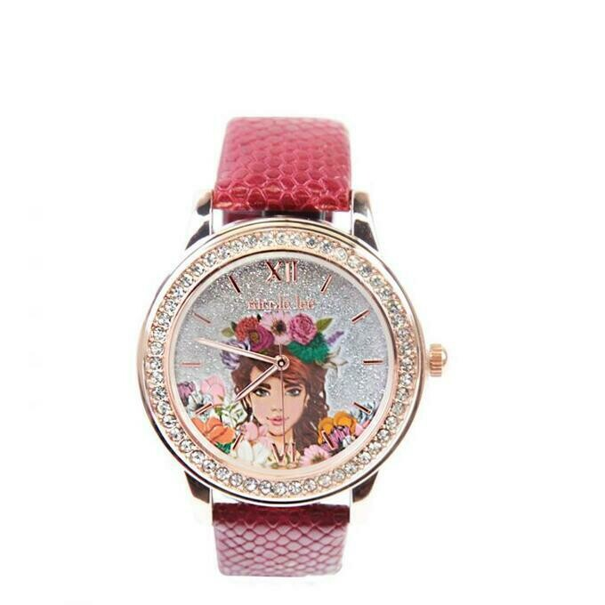 Часы THREE-HAND CRYSTAL PRINTED WATCH