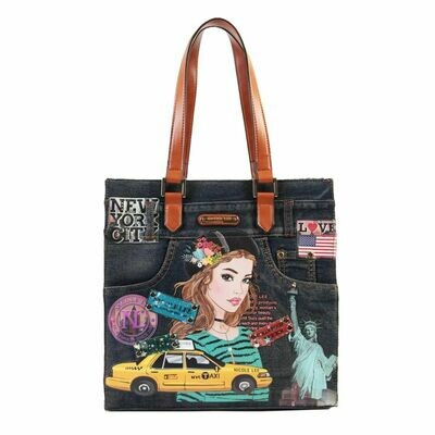 Сумка NEW YORK DENIM TOTE HANDBAG