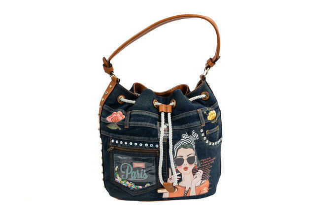 Сумка PARIS DENIM BUCKET BAG
