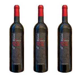 3 bottles of dry pomegranate wine.