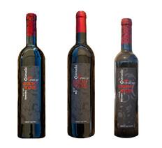 3 bottles of pomegranate wine: dry, semi dry and dessert.